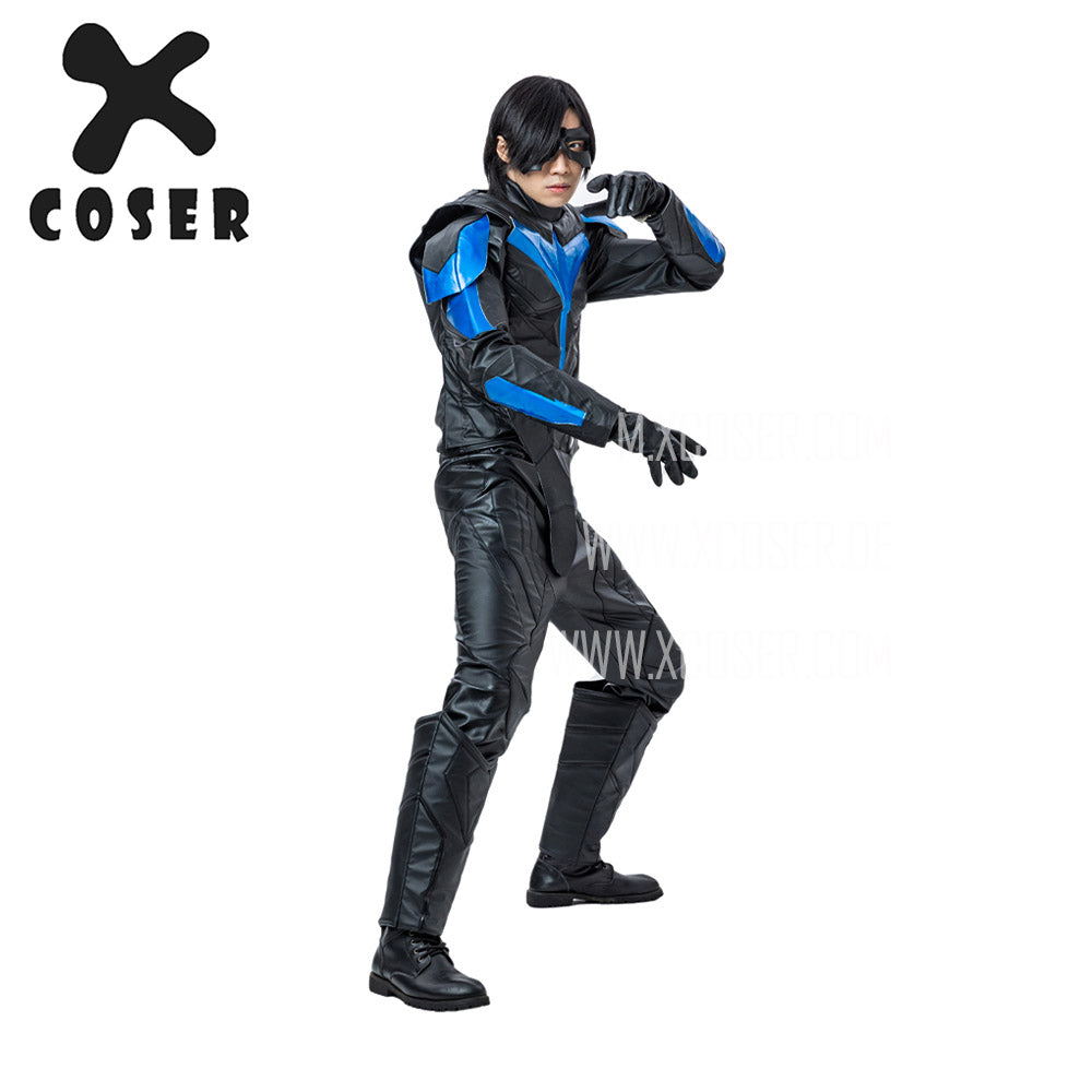 Xcoser Nightwing Cosplay Costumes Titans Season 2 Blue Suit -4