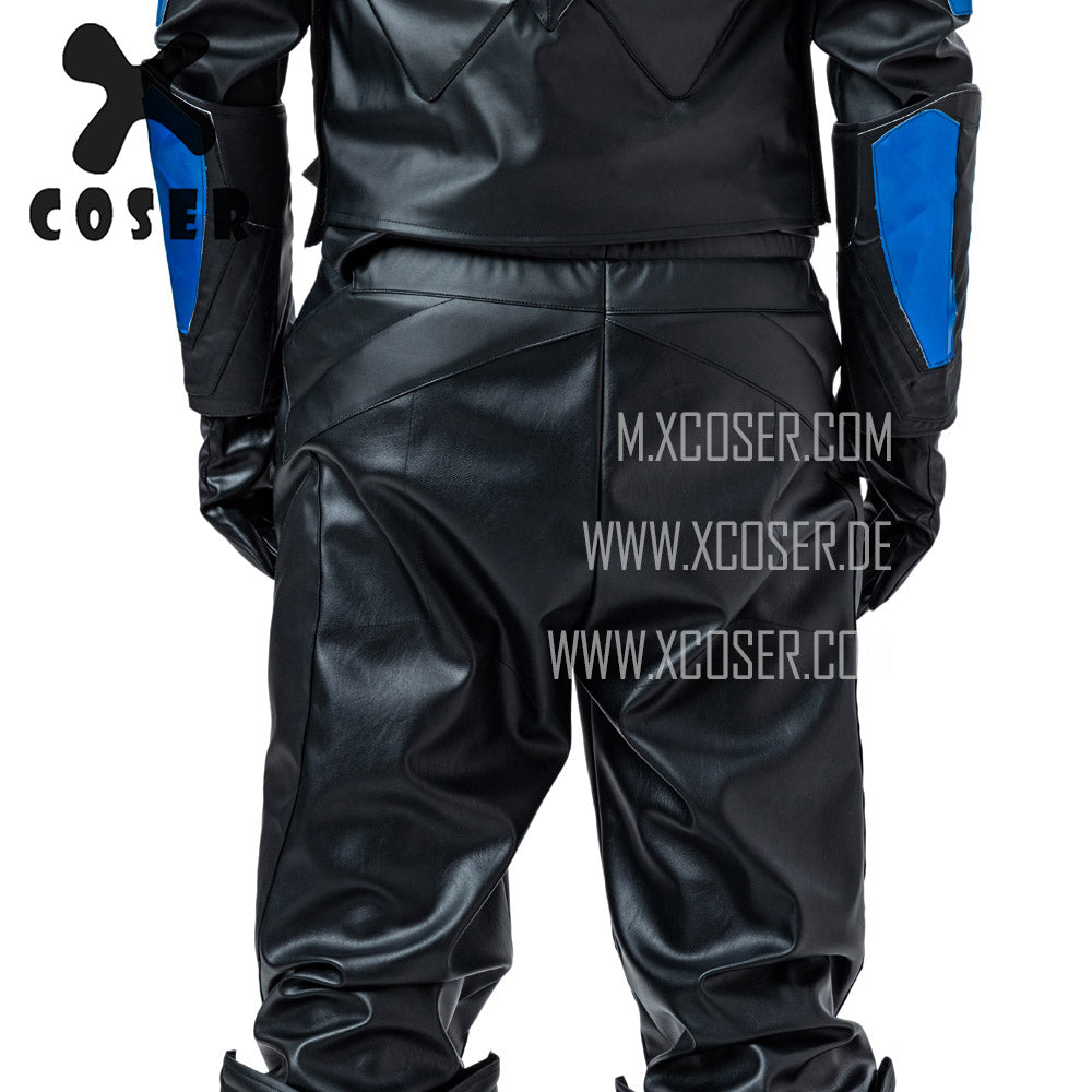 Xcoser Nightwing Cosplay Costumes Titans Season 2 Blue Suit - 15