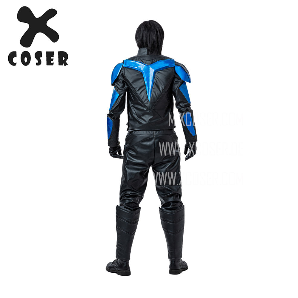 Xcoser Nightwing Cosplay Costumes Titans Season 2 Blue Suit - 10