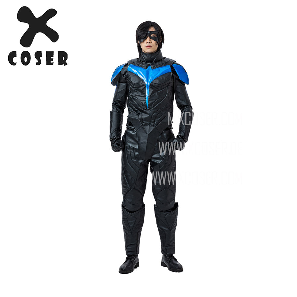 Xcoser Nightwing Cosplay Costumes Titans Season 2 Blue Suit - 1