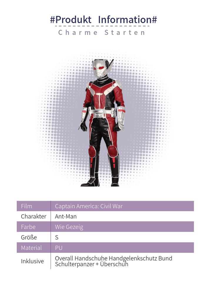 Xcoser® Ant-man Product Information