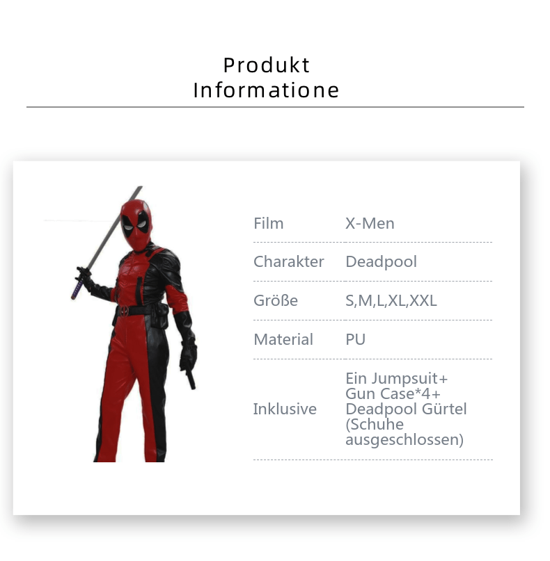 Xcoser® Deadpool Product Information