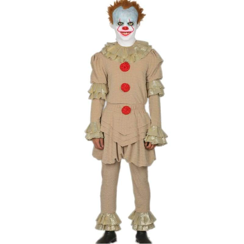xcoser-de,2017 Stephen King's It Pennywise the Dancing Clown Volle Cosplay Kostüm Halloween Anzug alte Version,Kostüm