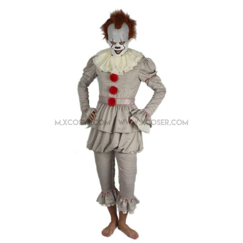 2017 Stephen King's It Pennywise the Dancing Clown Full Cosplay Costume Halloween Suit Sale