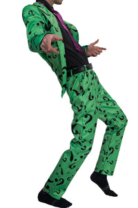 Riddler Kostüm Question Mark Pattern Suits DC Comics Riddler Cosplay Kleidung - Xcoser