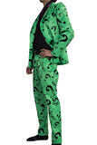 Riddler Kostüm Question Mark Pattern Suits DC Comics Riddler Cosplay Kleidung - xcoser-de