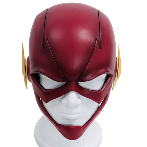 The Flash maske Cosplay Kostüm Helm Harz Rot Voll Kopf Maske Gemalte Version