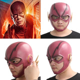The Flash maske Cosplay Kostüm Helm Harz Rot Voll Kopf Maske Gemalte Version - xcoser-de