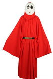 Super Mario Shy Guy Kostüm Bright Rouge Robe with Hood Cosplay Kleidung - xcoser-de