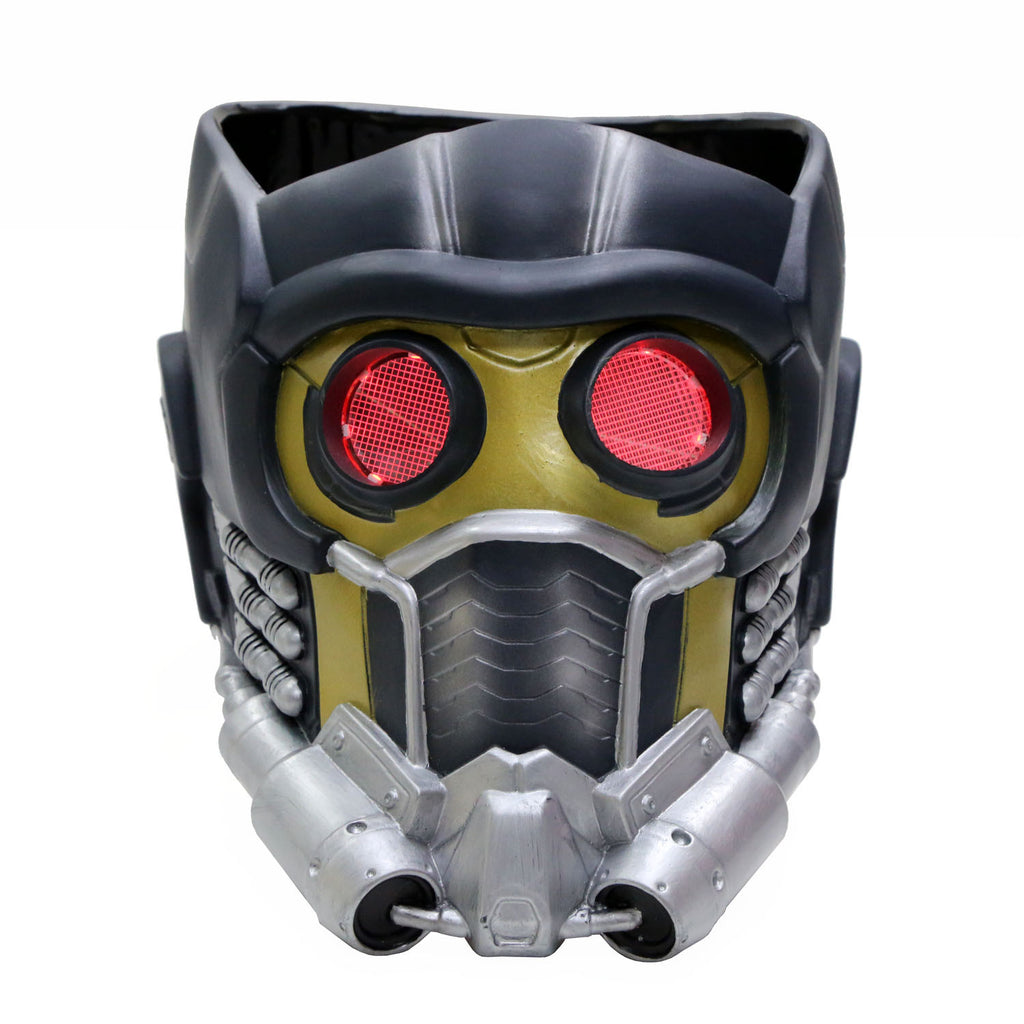xcoser-de,Star Lord Maske mit Glow Guardians of the Galaxy Cosplay PVC Helm,Star Lord Maske