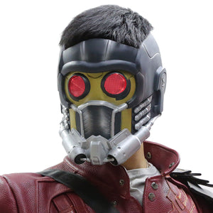 Star Lord Maske mit Glow Guardians of the Galaxy Cosplay PVC Helm - Xcoser