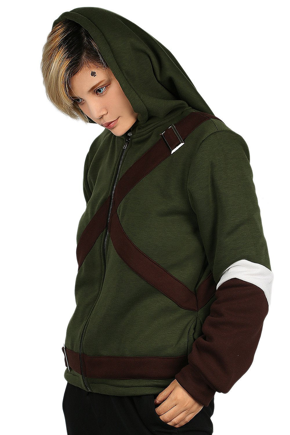 xcoser-de,Xcoser Link Hoodie The Legend of Zelda Link Cosplay Costume for Adults,The Legend of Zelda Costume