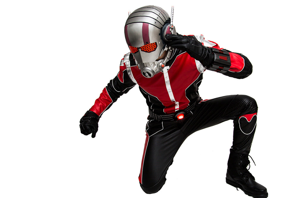 xcoser-de,Marvel Superheros  Ant-man Kostüm Schwarz and Rouge PU Outfit & Maske Cosplay Kleidung,Marvel Superheros 2015 Ant-man Kostüm