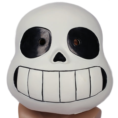 Undertale Sans Helm Latex Vollkopf Maske für Halloween Cosplay