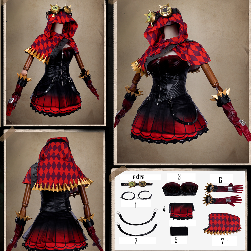 Fifth personality cos mechanic Little Red Riding Hood skin cosplay costume female