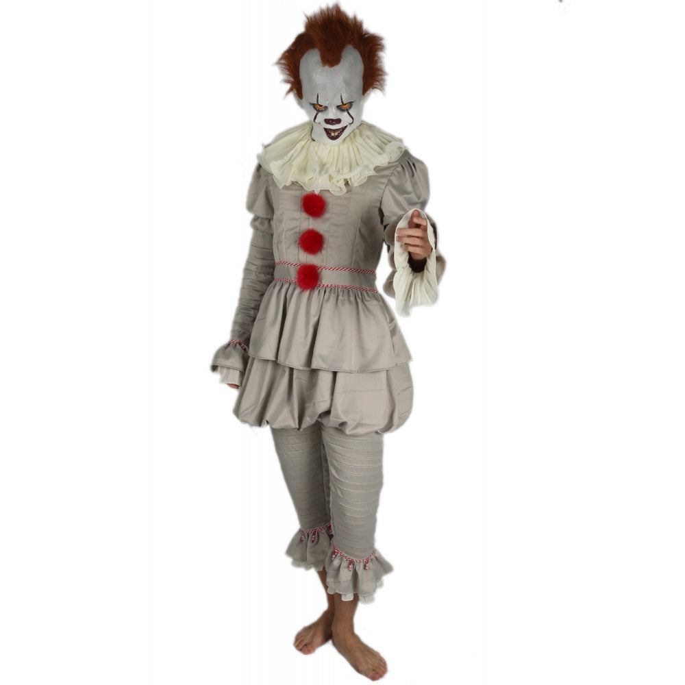 xcoser-de,Es Pennywise the Dancing Clown Cosplay Kostüm 2017 Stephen King's Halloween Anzug,Kostüm