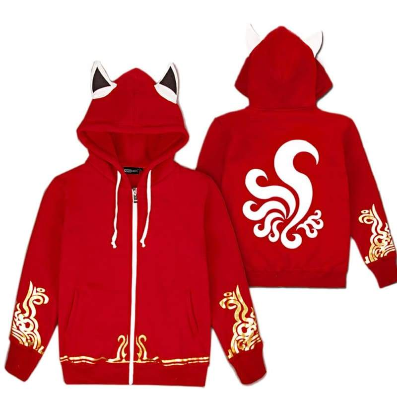 xcoser-de,Ahri Hoodie League of Legends neun Schwanz Fox Ahri Cosplay ein Paar Hoodies,Hoodie