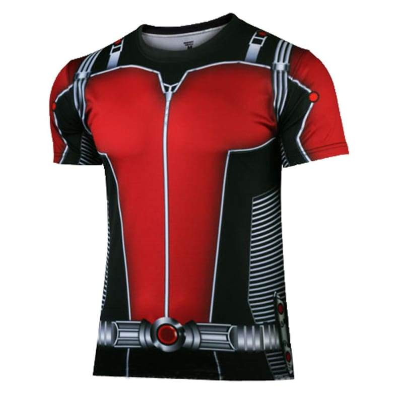xcoser-de,Ant Man T-shirt Marvel AntMan 3D Printed Polyester Cool Dry Short Sleeve Summer T shirt For Men,Wigs