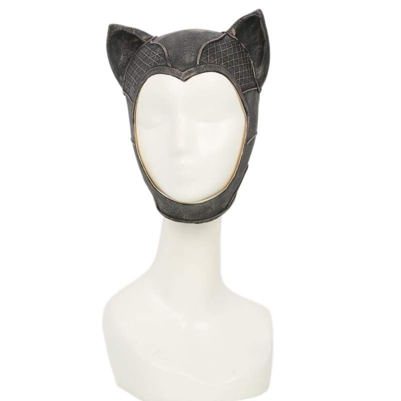 xcoser-de,Arkham City Game Catwoman  Cowl Latex Faint Bronze Full Head of Cosplay Cowl,Helmet