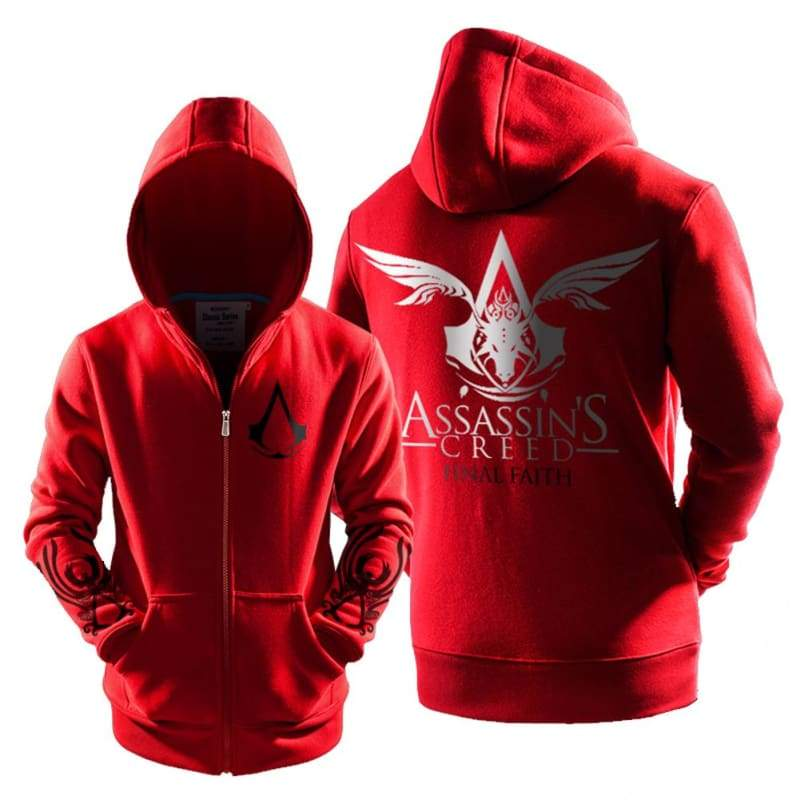 xcoser-de,Assassins Creed Hoodie Assassins Creed Cosplay Costume Couple Hoodies,Hoodies