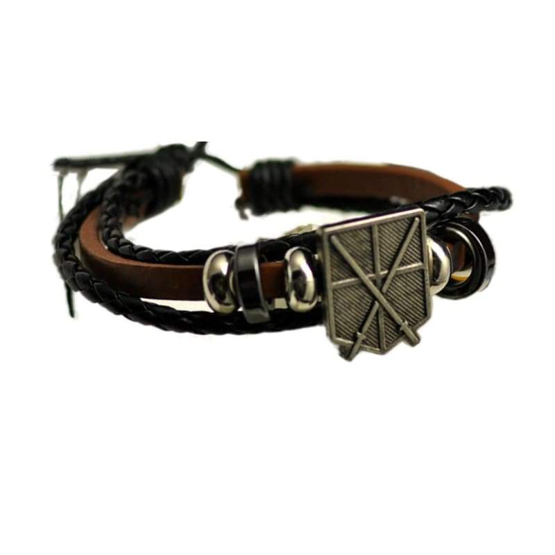 xcoser-de,Attack On Titan Bracelet Survey Corps Training Corps Anhänger Armband,Props