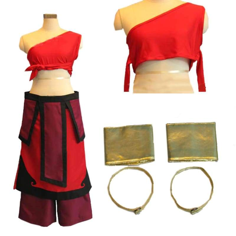 xcoser-de,Avatar: The Last Airbender Costume Katara Cosplay Costume Used in Summer,Costumes