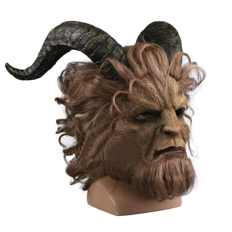 xcoser-de,Beauty and the Beast Prince Adam Beast Luxury Cosplay Maske,Maske