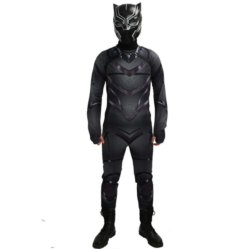 Black Panther Zentai Kostüm Captain America: Bürgerkriegs-Cosplay
