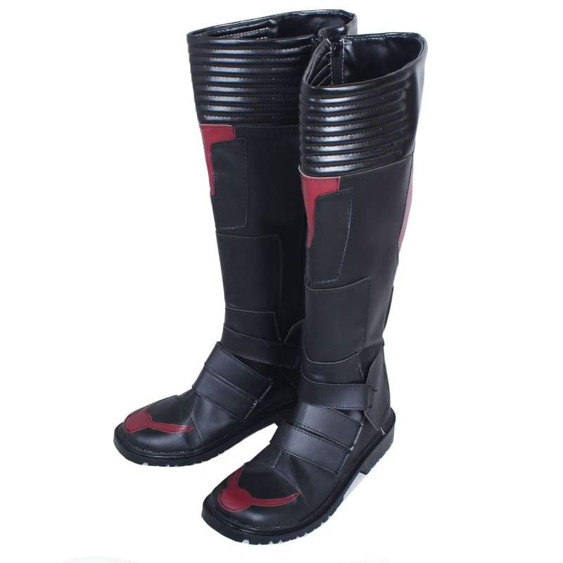 xcoser-de,Captain America 3 AntMan Black PU Thigh-boot Reding Boots Ant-Man Cosplay Shoes,Boots