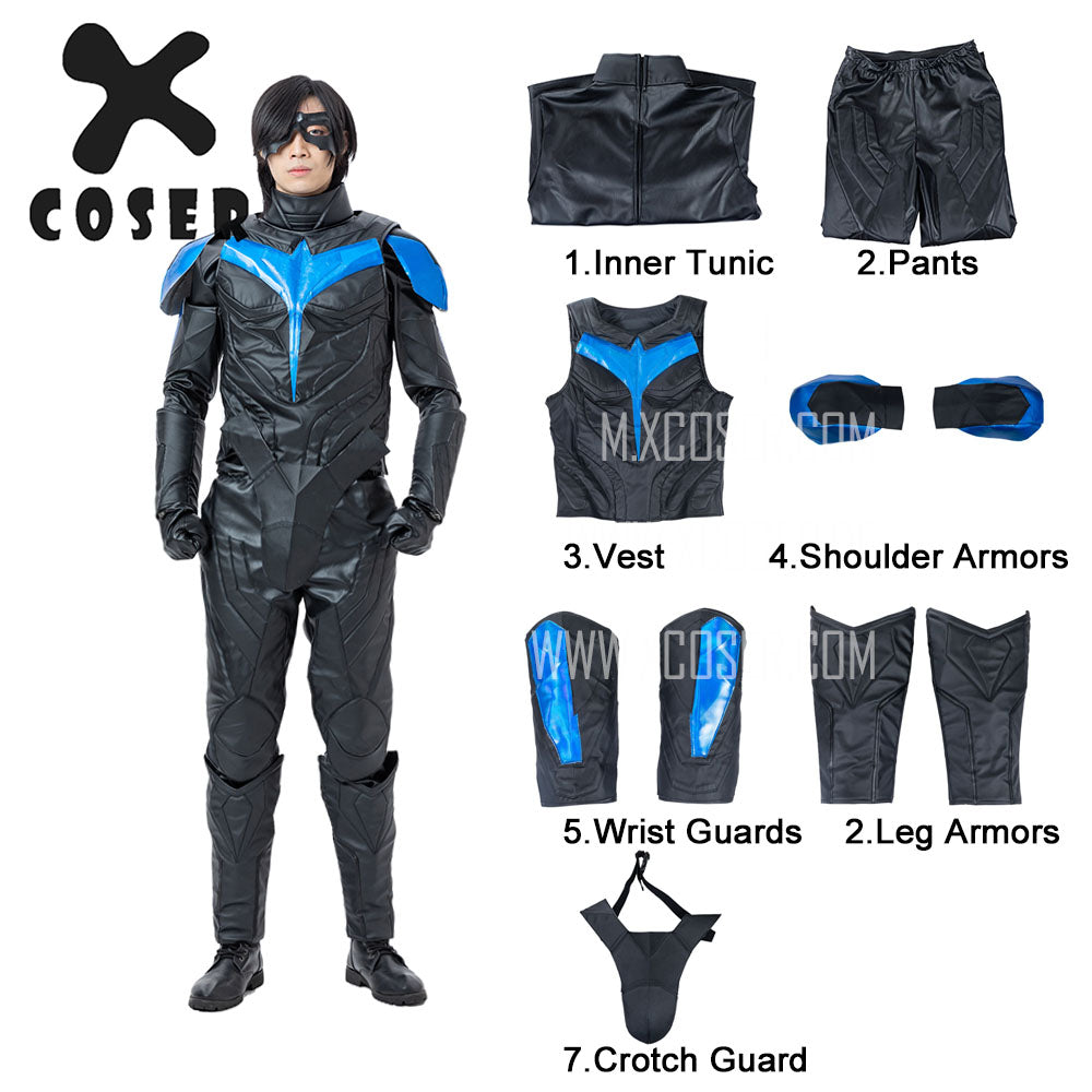 Xcoser Nightwing Cosplay Costumes Titans Season 2 Blue Suit - 2