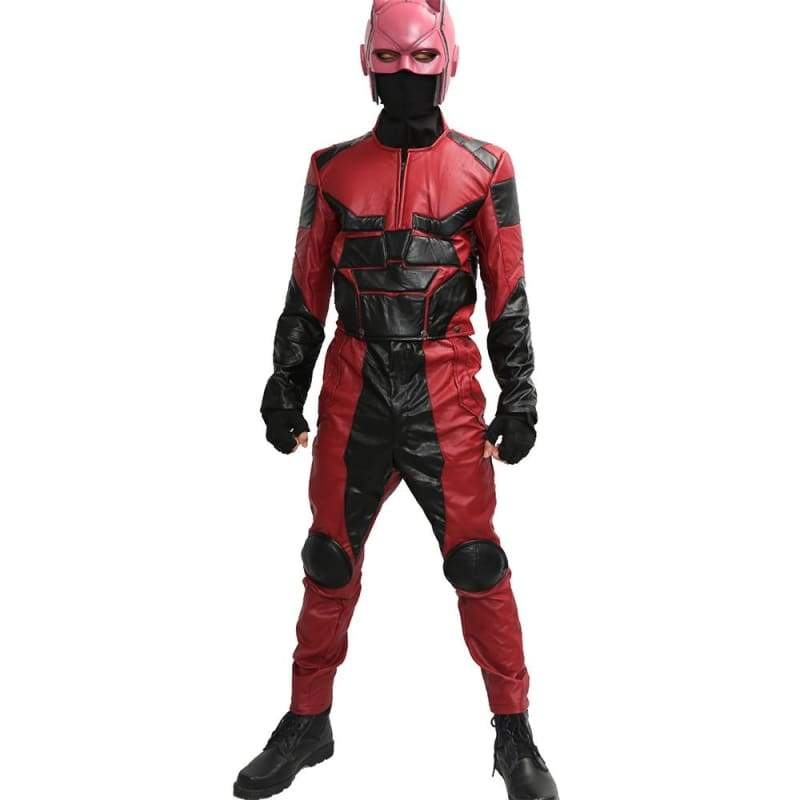 xcoser-de,Daredevil Outfits Black PU Costume for Daredevil Cosplay,Costumes