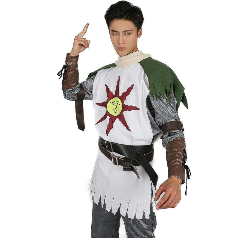 xcoser-de,Dark Souls Solaire Costume Forever Sun Warrior Cosplay Costume,Costumes