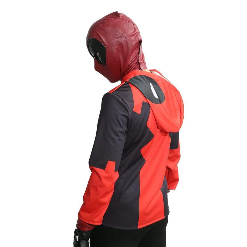 xcoser-de,Deadpool Hoodie Marvel Deadpool Costume Polyester Long Sleeve Zip Up Hoodie Coat,Hoodies