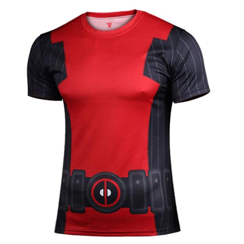 xcoser-de,Deadpool T shirt X-Men Cosplay Cooldry Short Sleeve Sports T Shirt,T-shirts
