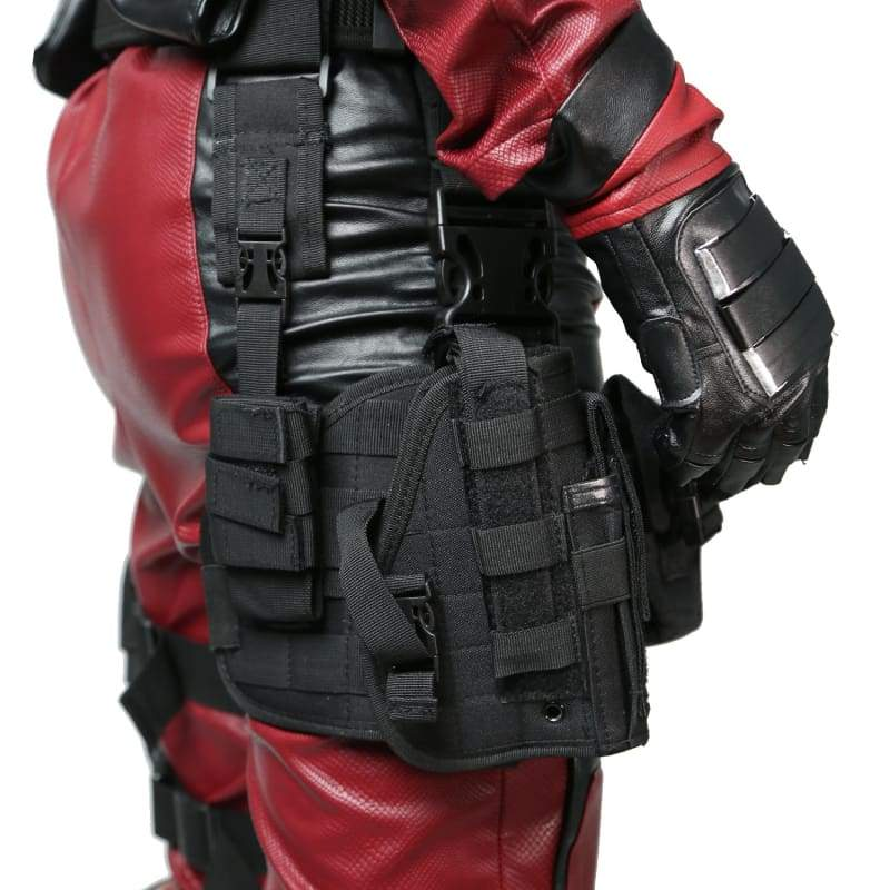 xcoser-de,Deadpool Wade Wilson Belt & Tactical Leg Bag Pockets Holster Props,Props