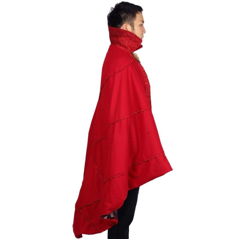 xcoser-de,Doctor Strange Cloak Bright Red Cloak Doctor Strange Cosplay Costume One Size,Costumes