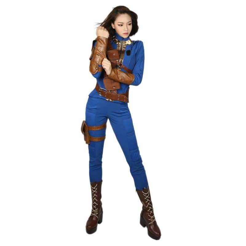 xcoser-de,Fallout 4 Sole Survivor costume high quality PU leather and dacron,Costumes