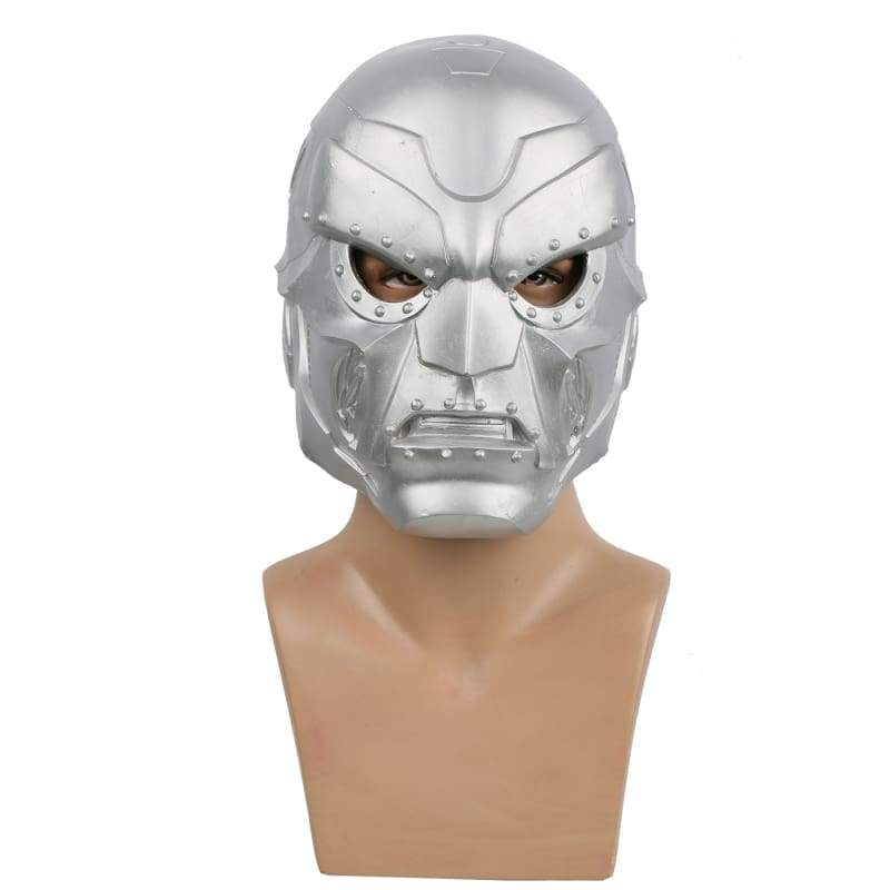 xcoser-de,Fantastic Four Doctor Doom Helm Silber Helm für Halloween Cosplay,Helm