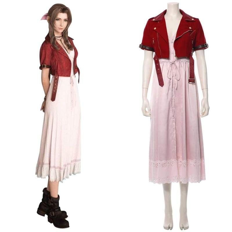 Final Fantasy Vii Remake Aerith Gainsborough Cosplay Costume - Costumes 1