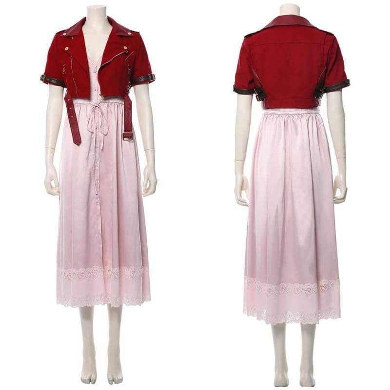Final Fantasy Vii Remake Aerith Gainsborough Cosplay Costume - Costumes 12