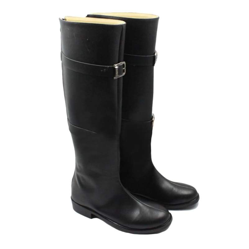 xcoser-de,Final Fantasy VII Sephiroth Cosolay Boots for Cosplay Parties Black PU Leather,Boots