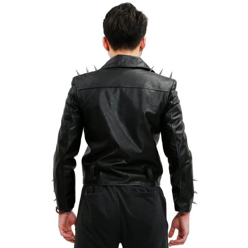 xcoser-de,Ghost Rider Nicolas Cage Black Leather Jacket,Jackets