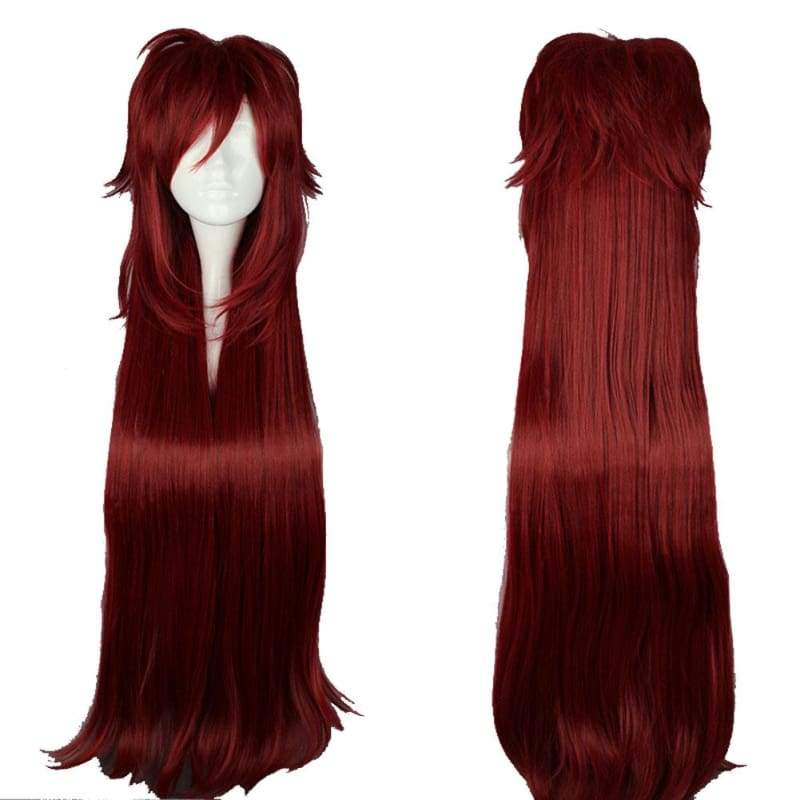 xcoser-de,Grell Sutcliff Wig Black Butler Grell Cosplay Long Red Anime Wig,Wigs