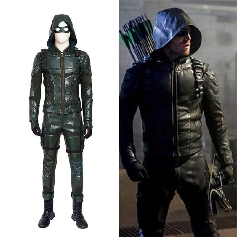 xcoser-de - Halloween Cosplay Arrow Season 5 Oliver Queen PU Costume - Costumes - Xcoser Shop