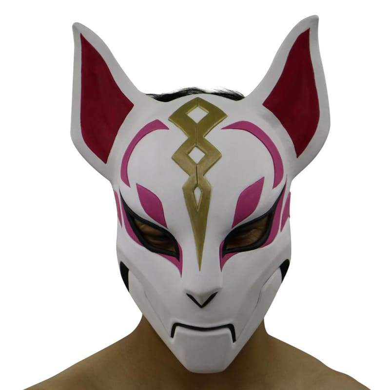 Halloween Cosplay Fortnite Fox Latex Halbgesichtsmaske