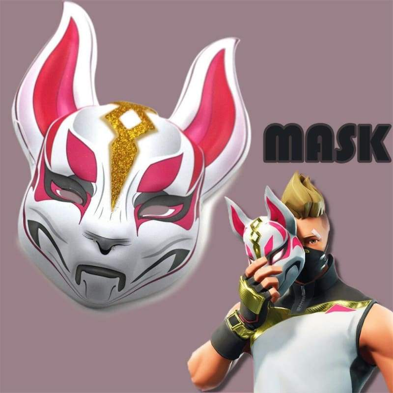 Halloween Cosplay Fortnite Fox Plastikmaske