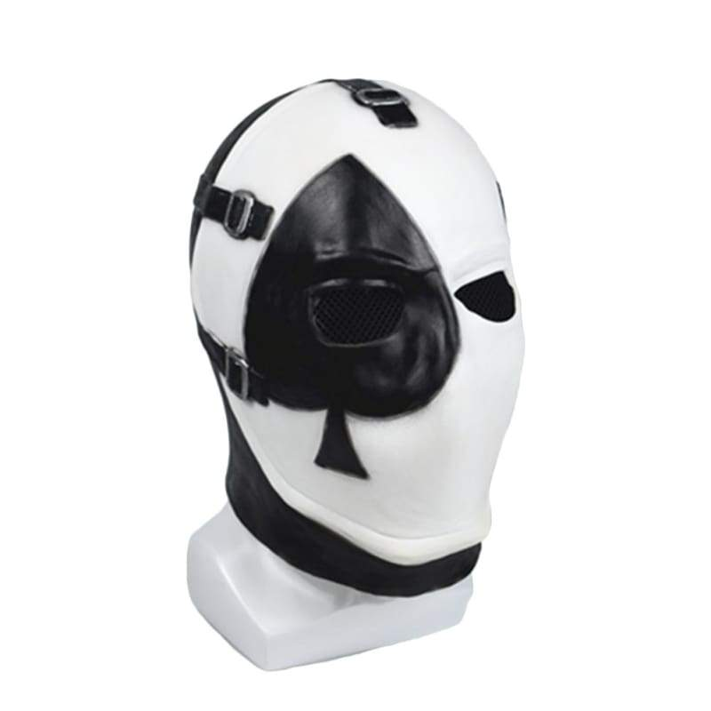 xcoser-de,Halloween Cosplay Fortnite Poker Gesicht Latex Maske,Maske