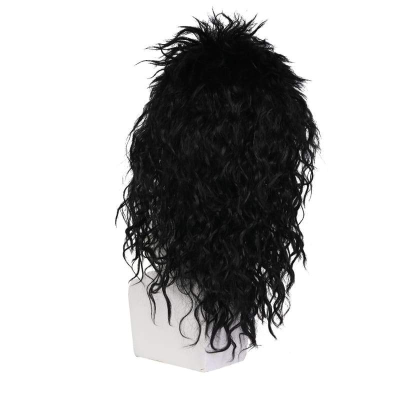 xcoser-de,Halloween Cosplay Guns N' Roses Saul Hudson Curly Wig Cosplay Accessory,Wigs