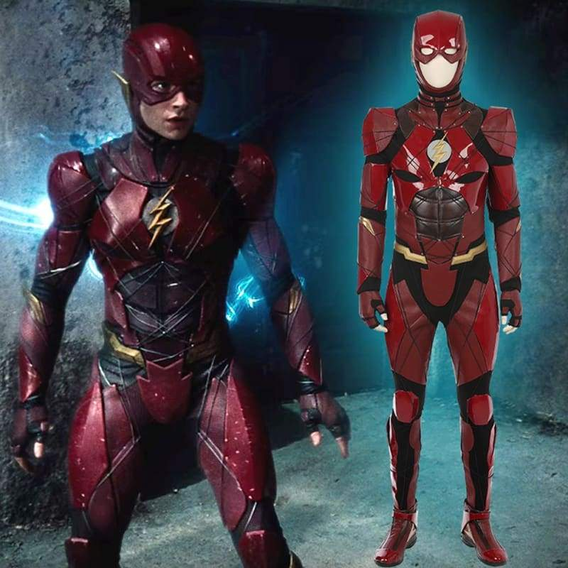 xcoser-de - Halloween Cosplay Justice League The Flash Costume - Costumes