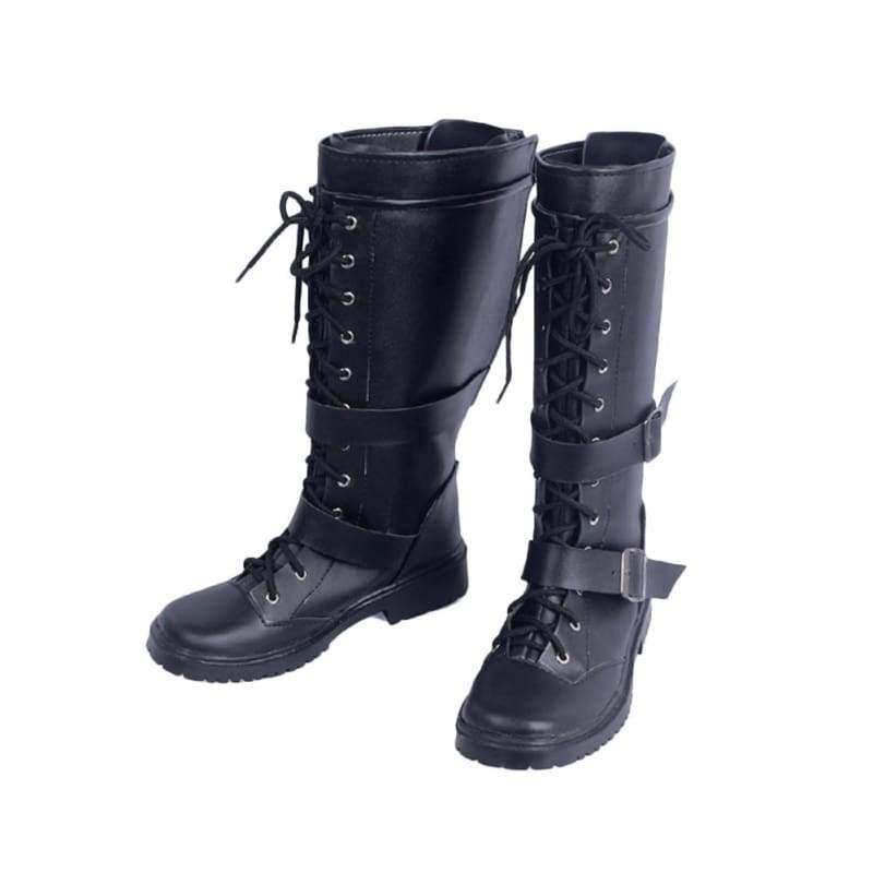 xcoser-de,Halloween Cosplay Kingdom Hearts III Cosplay Riku Black PU Boots,Boots